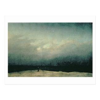 Monk by sea, 1809 postcard