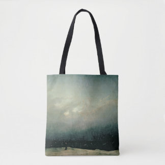 Monk by sea, 1809 tote bag