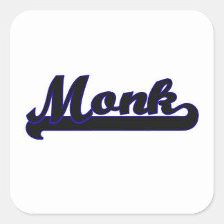 Monk Classic Job Design Square Sticker