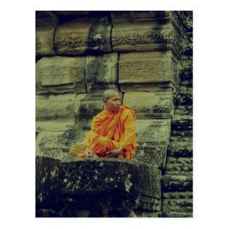 Monk Cross-Processed Postcard