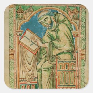 Monk Eadwine at work on the manuscript, Square Sticker