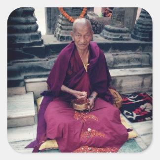 Monk in Bodh Gaya Sticker