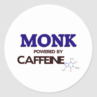 Monk Powered by caffeine Stickers