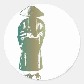 Monk Round Sticker