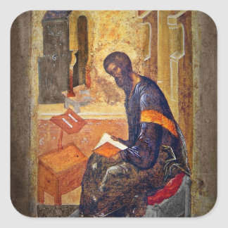 Monk Studying Scripture Stickers