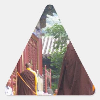 Monk Triangle Sticker