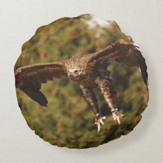 Monk Vulture monk vulture/photo Jean Louis Glineur Round Pillow