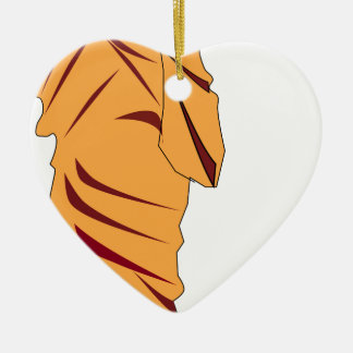 Monk Walking Ceramic Ornament