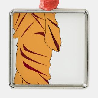 Monk Walking Metal Ornament