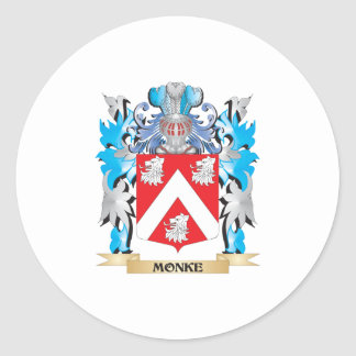 Monke Coat of Arms - Family Crest Round Sticker