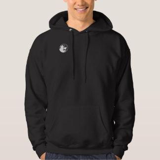 Monkee fâché Hoody - logo de noir/blanc Sweatshirt À Capuche