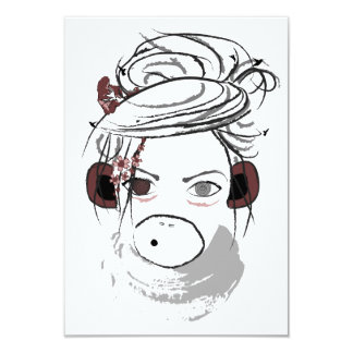 "monkey. 3.5"" x 5"" invitation card"