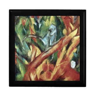 Monkey After Franz Marc, 1912 Jewelry Box