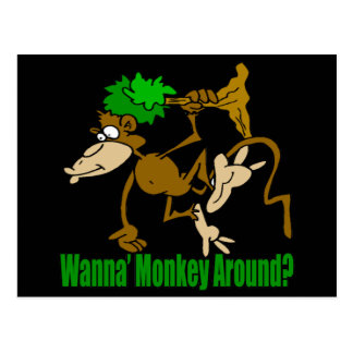 Monkey Around Funny T-shirts Gifts Postcard