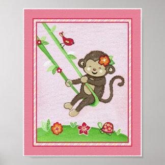 Monkey At Play Poster