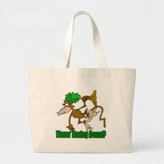 Monkey autour les cadeaux drôles de T-shirts Sac Fourre-tout