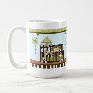 Monkey Baby in crib jungle safari CA-Blue Mug