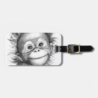 Monkey - Baby Orang outan 2016 G-121 Luggage Tag