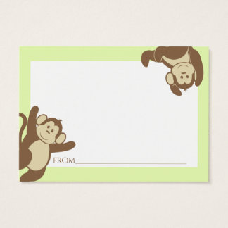 Monkey Baby Shower Advice Cards