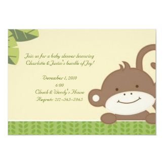 monkey; baby shower card