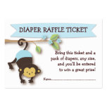 Monkey Baby Shower Diaper Raffle Ticket Insert Pack Of Chubby Business Cards