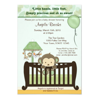 Monkey Baby Shower Invitation CJ GREEN