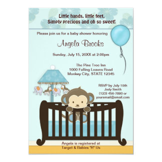 Monkey Baby Shower Invitations Announcements Zazzle Canada