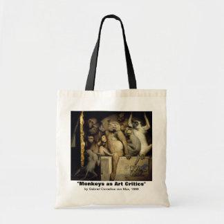 Monkey Bag:   Monkey Art Critics Tote Bag