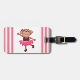Monkey Ballerina Bag Tag