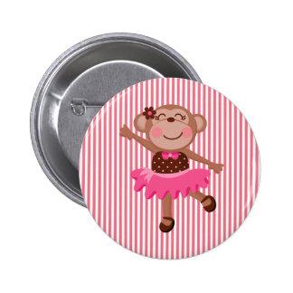 Monkey Ballerina Button