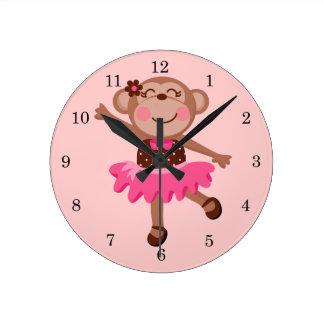 Monkey Ballerina Clock