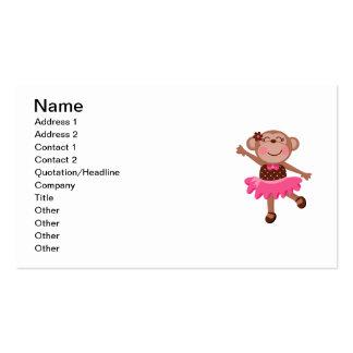 Monkey Ballerina Pack Of Standard Business Cards