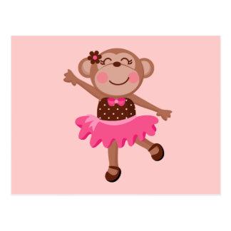 Monkey Ballerina Postcard