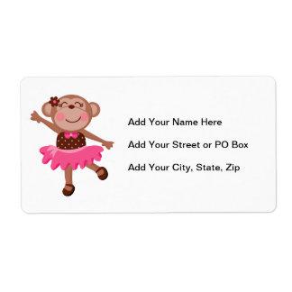 Monkey Ballerina Shipping Label