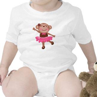 Monkey Ballerina Rompers