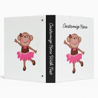 Monkey Ballerina Vinyl Binder