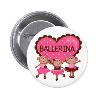 Monkey Ballet Pinback Buttons
