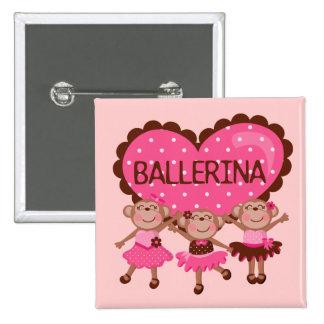 Monkey Ballet Pin