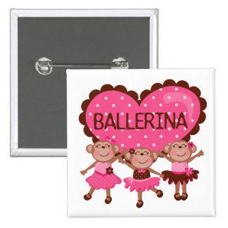 Monkey Ballet Button