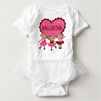 Monkey Ballet Girly Baby Tutu Bodysuit