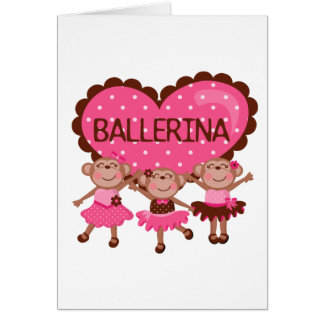 Monkey Ballet Greeting Card