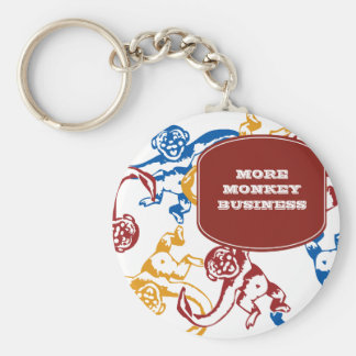 Monkey Barrel Retro Keychain