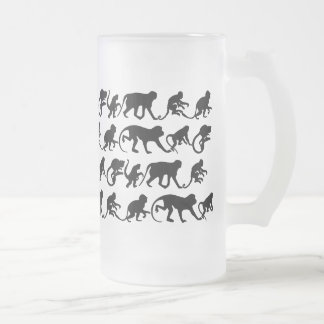 Monkey Beer Glass Frosted Glass Beer Mug