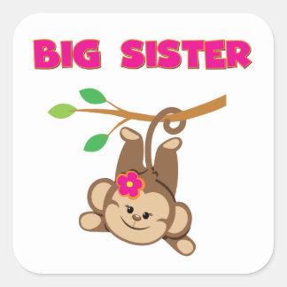 Monkey Big Sister Square Sticker
