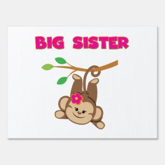 Monkey Big Sister Yard Sign