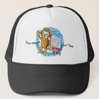 Monkey Bingo King custom name Trucker Hat