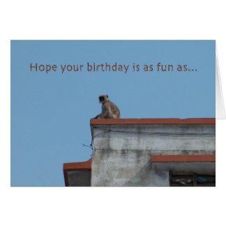 monkey birthday card