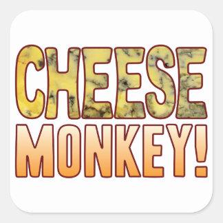 Monkey Blue Cheese Square Sticker