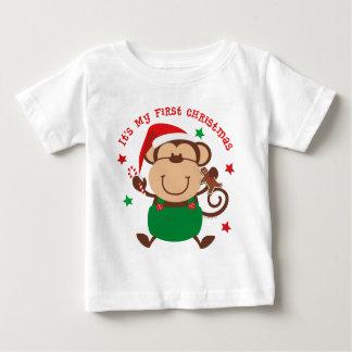 Monkey Boy 1st Christmas Baby T-Shirt
