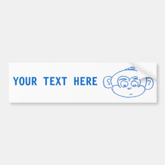 Monkey Boy Bumper Sticker